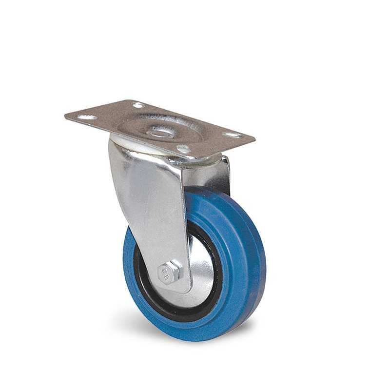 Roulette platine caoutchouc élastique