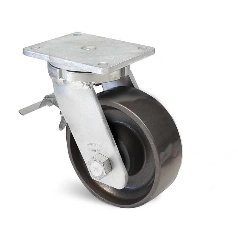 Roulette à platine pivotante acier 2 tonnes