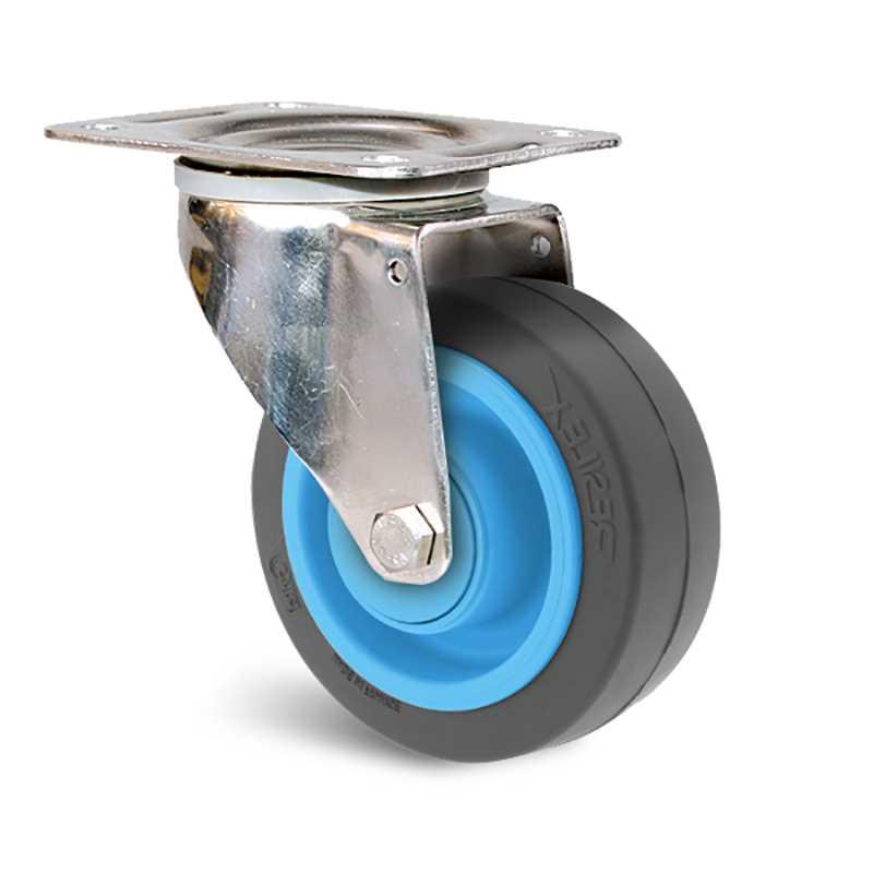 Roulette résilex à bandage caoutchouc super élastique non tachant