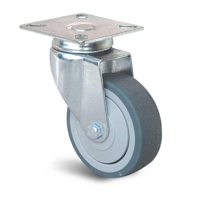 Roulette à platine pivotante à bandage non tachant