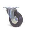 Roulette à platine – De 50 à 125 kg - à platine pivotante, 24, 50, 50, 68, 15, 67x48, 6.5, lisse, 55x30