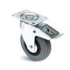Roulette à platine – De 50 à 200 kg - à platine pivotante à double blocage, 27, 50, 80, 107, 33, 105x80, 9, à rouleaux, 80x60