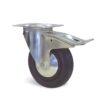 Roulette à platine – De 50 à 125 kg - à platine pivotante à double blocage, 35, 80, 80, 107, 33, 105x80, 9, à rouleaux, 80x60