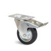 Roulette à platine – De 75 à 200 kg - à platine pivotante à double blocage, 25, 75, 80, 107, 33, 105x80, 9, à rouleaux, 80x60