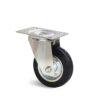 Roulette à platine – De 75 à 200 kg - à platine pivotante, 25, 75, 80, 107, 33, 105x80, 9, à rouleaux, 80x60
