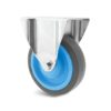 Roulette à platine – 200 à 400 kg - à platine fixe, 31, 200, 100, 132, Roulette à platine acier, 105x80, 8.5, à billes, 80x60