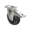 Roulette à platine – De 175 à 200 kg - à platine pivotante à double blocage, 40, 175, 160, 196, 50, 135x110, 11, à rouleaux, 105x80