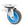 Roulette à platine – 200 à 400 kg - à platine pivotante à double blocage, 31, 200, 100, 132, 34, 105x80, 8.5, à billes, 80x60