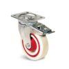 Roulettes polyamide Sandwich - 200 kg - à platine pivotante à double blocage, 125, 157, 34, à rouleaux, 105x80, 9, 80x60