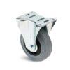 Roulette à platine – De 50 à 200 kg - à platine fixe, 27, 50, 80, 107, Roulette à platine acier, 105x80, 9, à rouleaux, 80x60