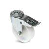 Roulette à trou central – 125 kg - à trou central pivotante à double blocage, 30, 80, 80, 105, 27, 12, lisse