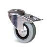 Roulette à trou central – 50 à 100 kg - à trou central pivotante à double blocage, 27, 50, 80, 105, 33, 12.5, à rouleaux