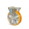 Roulette à platine – De 200 à 350 kg - à platine fixe, 30, 200, 100, 128, Roulette à platine acier, 105x85, 9, à billes, 80x60