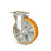 Roulette à platine – De 200 à 350 kg - à platine pivotante, 30, 200, 100, 128, 41, 105x85, 9, à billes, 80x60