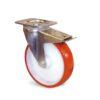 Roulette à platine – De 150 à 200 kg - à platine pivotante à double blocage, 32, 150, 80, 108, 41, 105x85, 9, lisse, 80x60
