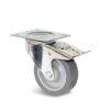 Roulette à platine – De 70 à 200 kg - à platine pivotante à double blocage, 32, 60, 80, 108, 41, 105x85, 9, à rouleaux, 80x60