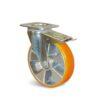 Roulette à platine – De 200 à 350 kg - à platine pivotante à double blocage, 30, 200, 100, 128, 41, 105x85, 9, à billes, 80x60