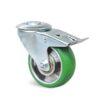 Roulette à trou central – De 150 à 300 kg - à trou central pivotante à double blocage, 50, 300, 160, 195, 55, 12.5, à billes