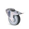 Roulette à trou central – 70 à 100 kg - à trou central pivotante à double blocage, 32, 70, 80, 108, 41, 12.5, à rouleaux
