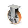Roulette à platine – 400 à 1000 kg - à platine fixe, 50, 400, 100, 150, Roulette à platine acier, 150x110, 13, à billes, 105x80