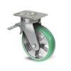 Roulette à platine – 350 à 750 kg - à platine pivotante à double blocage, 50, 400, 125, 177, 52, 150x110, 13, à billes, 105x80