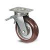 Roulette à platine – 350 à 770 kg - à platine pivotante à double blocage, 50, 350, 100, 150, 41, 150x110, 13, à billes, 105x80