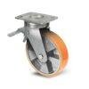 Roulette à platine – 400 à 1000 kg - à platine pivotante à double blocage, 50, 450, 125, 177, 52, 150x110, 13, à billes, 105x80