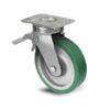 Roulette à platine – 350 à 750 kg - à platine pivotante à double blocage, 38, 350, 125, 177, 52, 150x110, 13, à billes, 105x80