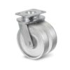 Roulette à platine – 800 à 1500 kg - à platine pivotante, 45+45, 1500, 200, 250, 60, 150x110, 14.5, à billes, 105x80