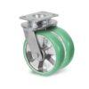 Roulette à platine – 630 à 1250 kg - à platine pivotante, 50+50, 630, 100, 150, 60, 150x110, 14.5, à billes, 105x80