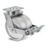 Roulette à platine – 800 à 1500 kg - à platine pivotante à double blocage, 35+35, 800, 100, 150, 60, 150x110, 14.5, à billes, 105x80