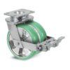 Roulette à platine – 630 à 1250 kg - à platine pivotante à double blocage, 50+50, 630, 100, 150, 60, 150x110, 14.5, à billes, 105x80