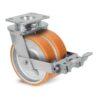 Roulette à platine – 720 à 1500 kg - à platine pivotante à double blocage, 50+50, 720, 100, 150, 60, 150x110, 14.5, à billes, 105x80