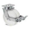Roulette à platine – 1350 à 1500 kg - à platine pivotante à double blocage, 45+45, 1350, 125, 177, 50, 150x110, 14.5, à billes, 105x80