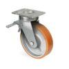 Roulette à platine – 400 à 1300 kg - à platine pivotante à double blocage, 75, 600, 85, 144, 45, 150x110, 13, à billes, 105x80