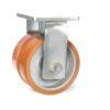 Roulette à platine – 3950 à 5500 kg - à platine fixe, 100+100, 3950, 250, 250, Roulette à platine acier, 18, à billes, 210x160
