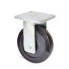 Roulette à platine – 500 à 700 kg - à platine fixe, 75, 500, 200, 264, Roulette à platine acier, 175x140, 14, à billes, 140x105