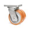 Roulette à platine – 3950 à 5500 kg - à platine pivotante, 100+100, 4500, 300, 300, Roulette en acier avec déport 85, 225x200, 18, à billes, 210x160