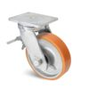 Roulette à platine – 1000 à 2000 kg - à platine pivotante à double blocage, 80, 1000, 150, 212, 53, 175x140, 14, à billes, 140x105