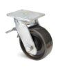 Roulette à platine – 2000 kg - à platine pivotante à double blocage, 75, 2000, 150, 212, 53, 175x140, 14, à billes, 140x105