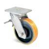 Roulette à platine – 1370 à 2060 kg - à platine pivotante à double blocage, 75, 1370, 200, 264, 67, 175x140, 14, à billes, 140x105