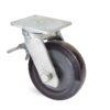 Roulette à platine – 500 à 700 kg - à platine pivotante à double blocage, 75, 500, 200, 264, 67, 175x140, 14, à billes, 140x105