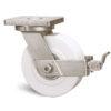 Roulette à platine – 3000 à 5000 kg - à platine pivotante à simple blocage, 80, 4500, 200, 200, 65, 200x160, 18, à billes, 160x120