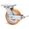 Roulette à platine – 1000 à 2000 kg - à platine pivotante à simple blocage, 80, 1000, 150, 212, 53, 175x140, 14, à billes, 140x105