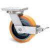 Roulette à platine – 1370 à 2750 kg - à platine pivotante à simple blocage, 75, 2060, 300, 300, 80, 200x160, 18, à billes, 160x120