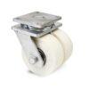 Roulette à platine – 5000 kg - à platine pivotante, 80+80, 5000, 150, 150, 61, 200x160, 18, à billes, 160x120