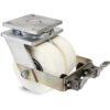 Roulette à platine – 5000 kg - à platine pivotante à simple blocage, 80+80, 5000, 150, 150, 61, 200x160, 18, à billes, 160x120