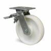 Roulette à platine – 600 kg - à platine pivotante à simple blocage, 45, 600, 125, 165, 40, 138x110, 11, à billes, 105x80