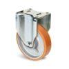 Roulette à platine – 1000 kg - à platine fixe, 50, 1000, 200, 250, Roulette à platine acier, 135x115, 11, à billes, 105x80