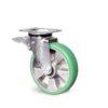 Roulette à platine – 350 à 400 kg - à platine pivotante à double blocage, 350, 100, 140, 45, 135x110, 11, à billes, 105x80, 50